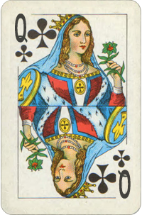 Queen Of Clubs Planetary Ruling Card Free Destiny Cards Reading