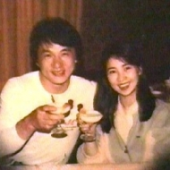 Jackie Chan and Lin Feng Jiao