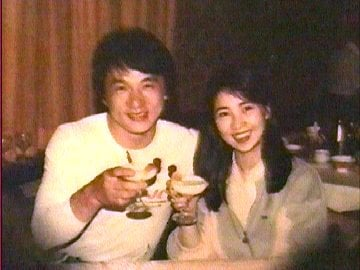Lin Feng Jiao and Jackie Chan
