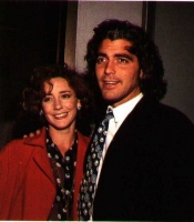 Talia Balsam and George Clooney