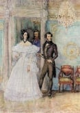 Natalia Goncharova (Pushkina) and Alexander Pushkin