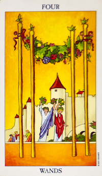 Four Of Wands Tarot