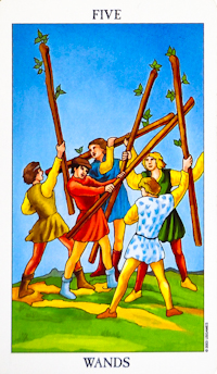 Five Of Wands Tarot