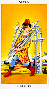 Tarot readings: Seven Of Swords  Daily Tarot Reading  Free