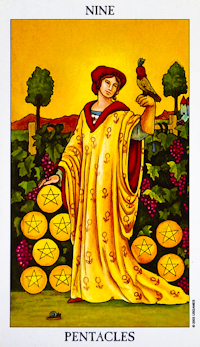 Nine Of Pentacles Tarot