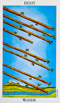 Eight of Wands Tarot