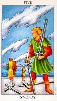 Five of Swords Tarot