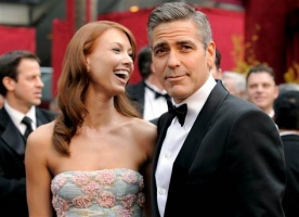 Sarah Larson and George Clooney