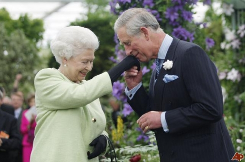 Prince Charles and Queen Elizabeth II