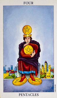 Four Of Pentacles Tarot
