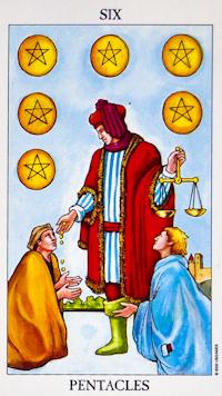 Six Of Pentacles Tarot