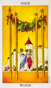 Four of Wands Tarot